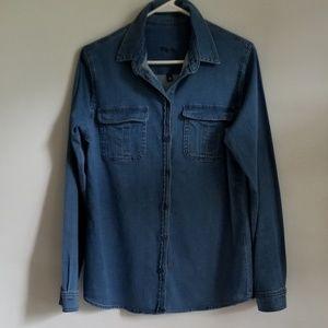 Kut from the Kloth SZ Medium Bleached Denim Shirt